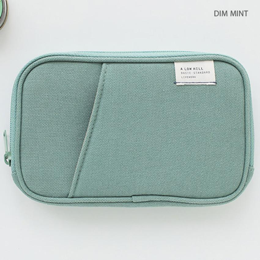 Dim mint - Travel pocket zip around wallet