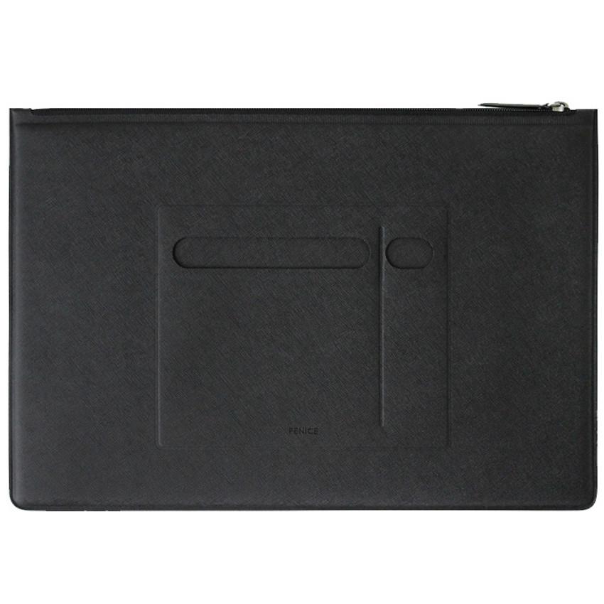 Front - Premium business flat multi zipper pouch
