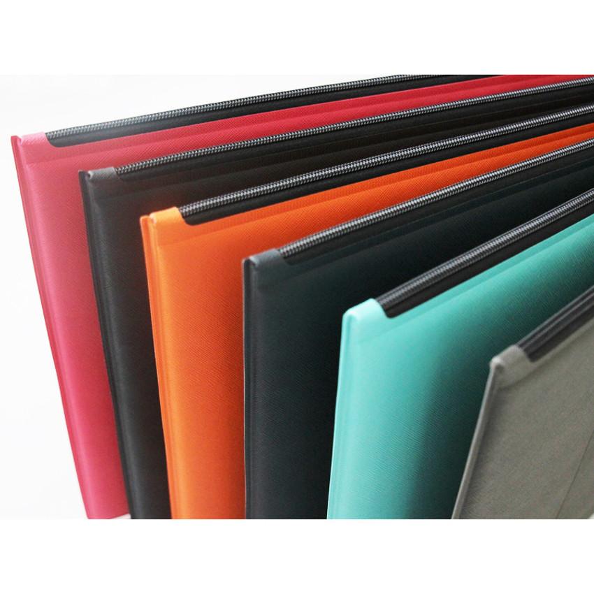 Detail of Premium business flat multi zipper pouch