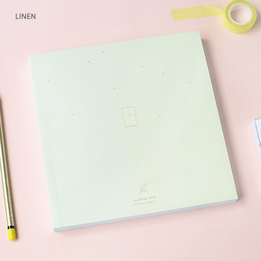 Linen - doodling large drawing notebook