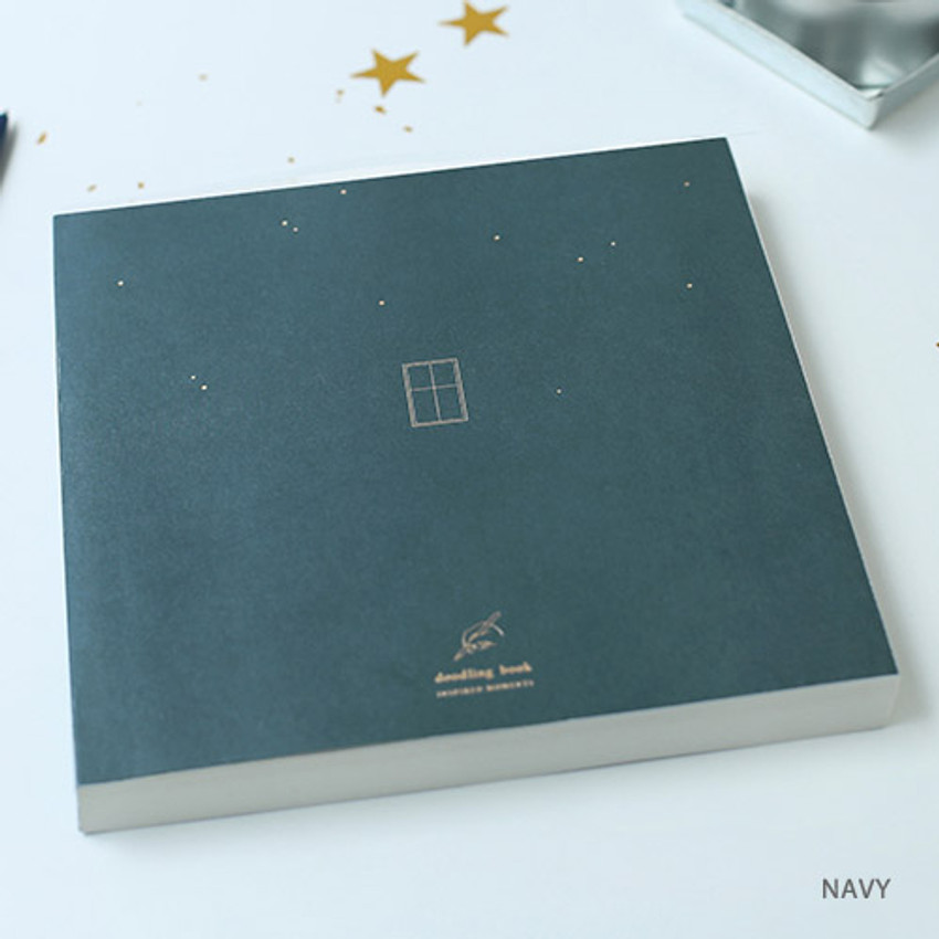 Navy - doodling large drawing notebook