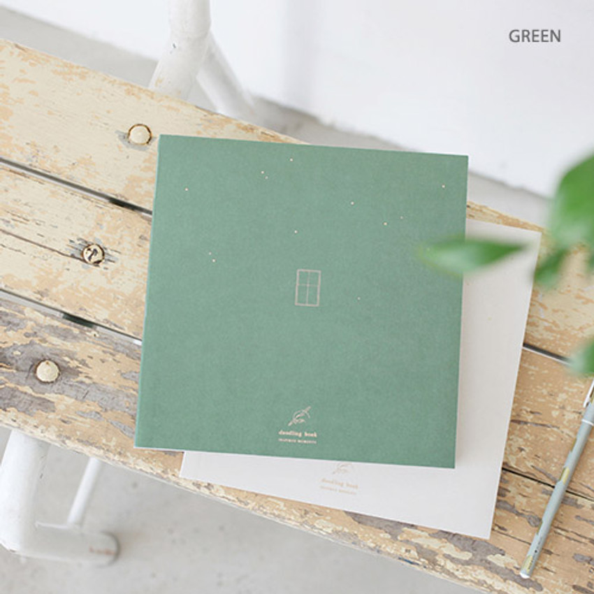 Green - doodling large drawing notebook