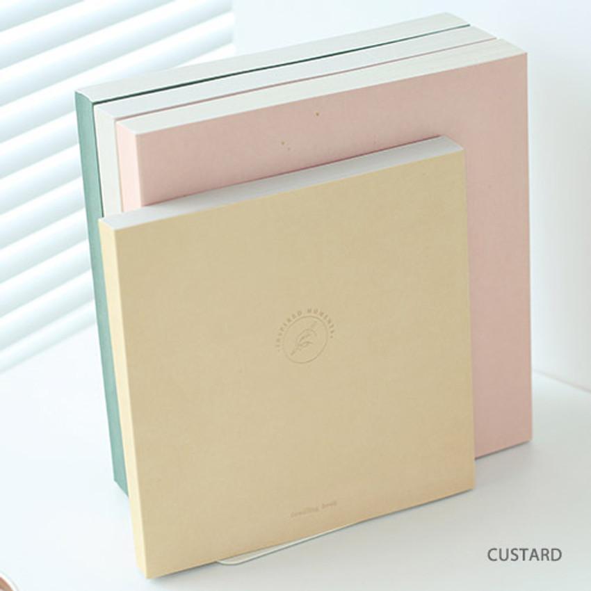Custard - Doodling medium drawing notebook