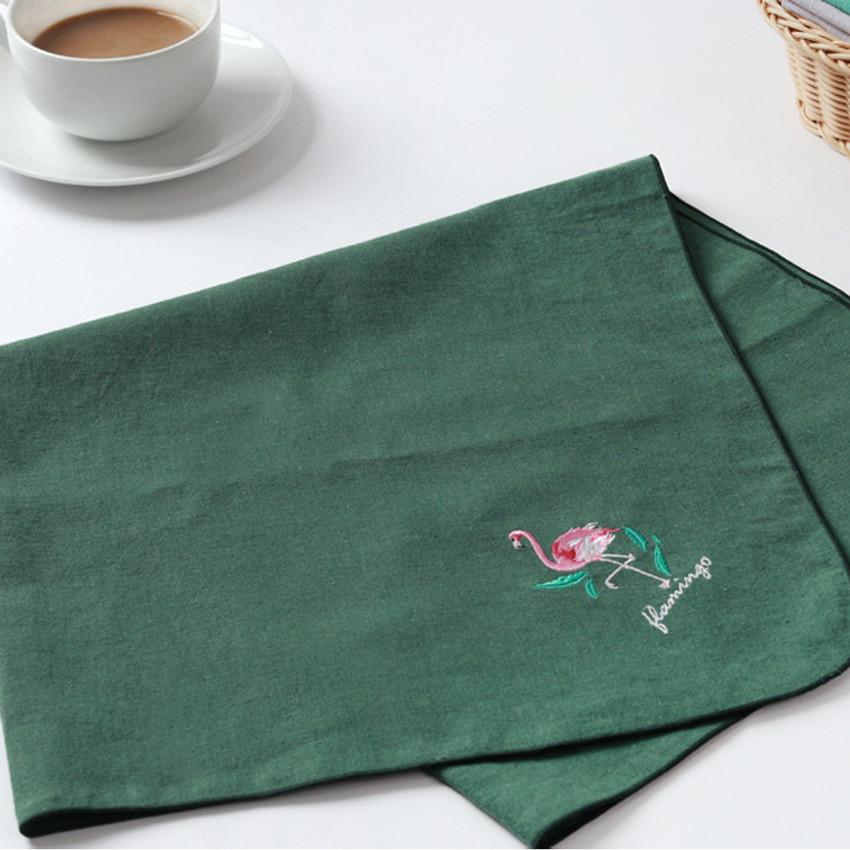 Flamingo - Tailorbird animal fastel small blanket
