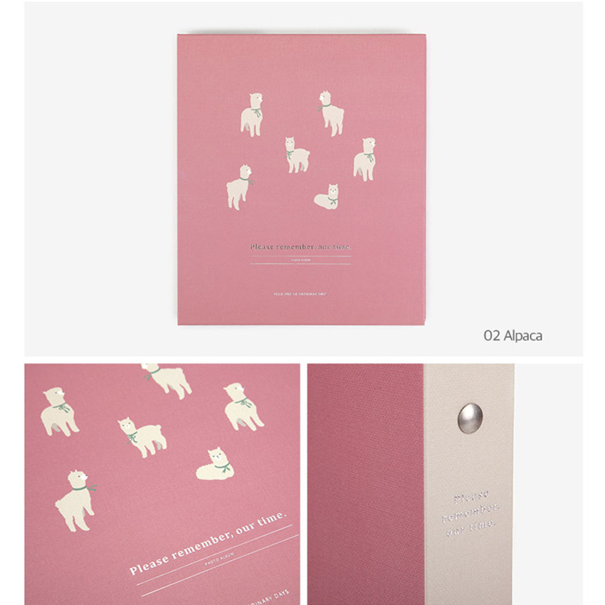 Alpaca - Remember our time self adhesive photo album