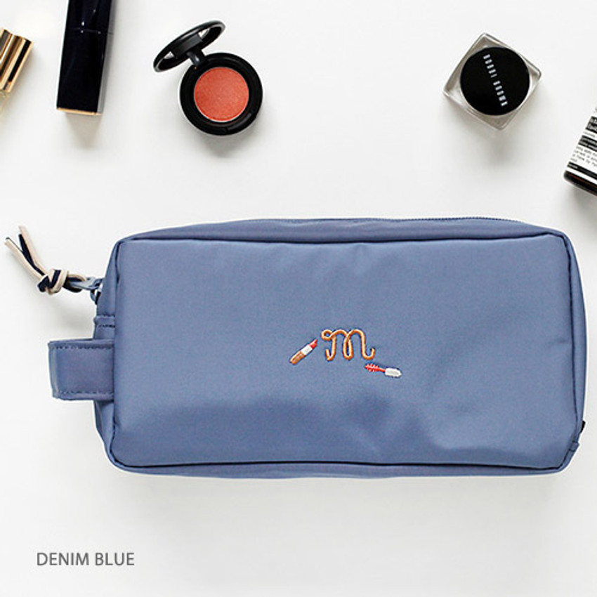 Denim blue - For your makeup cosmetic pouch bag