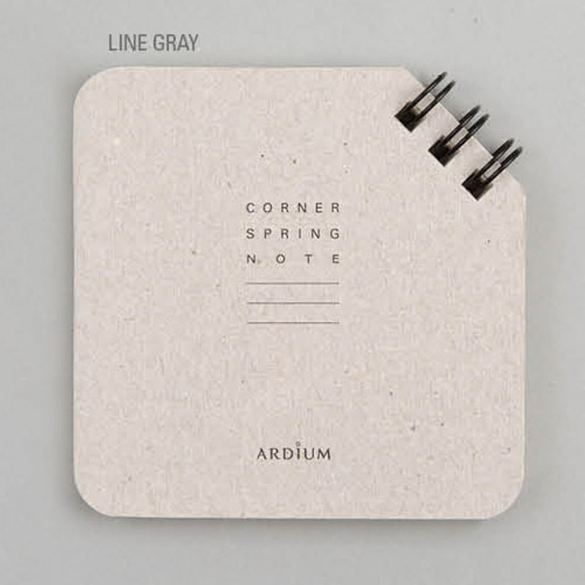 Line gray - Corner mini spiral lined/grid notebook