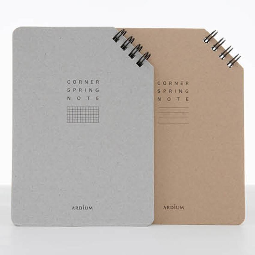 Corner medium spiral lined/grid notebook