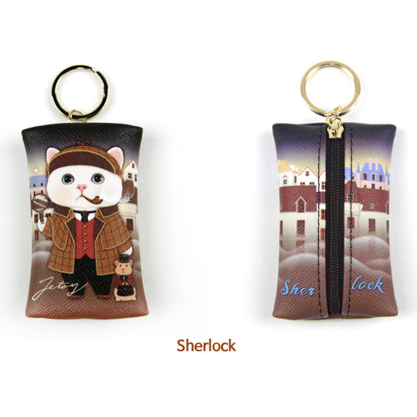 Sherlock - Choo Choo petit key ring with small zippered case
