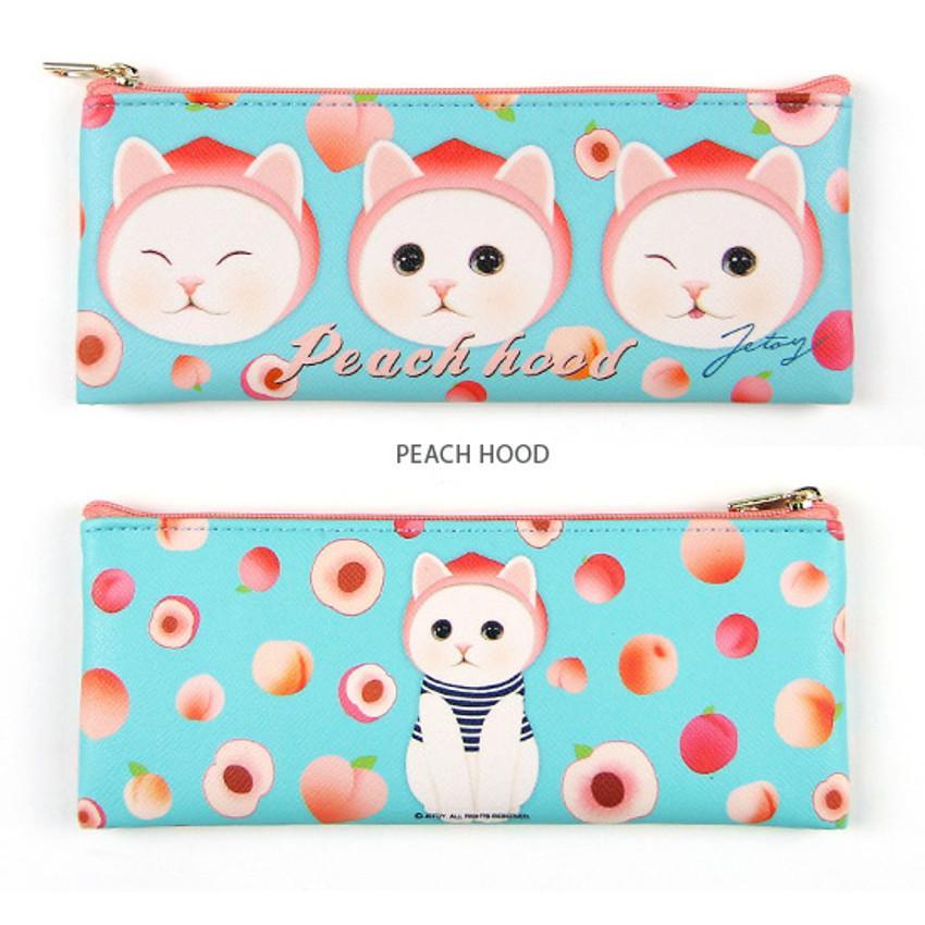 Peach Hood - Choo Choo slim zipper pencil case