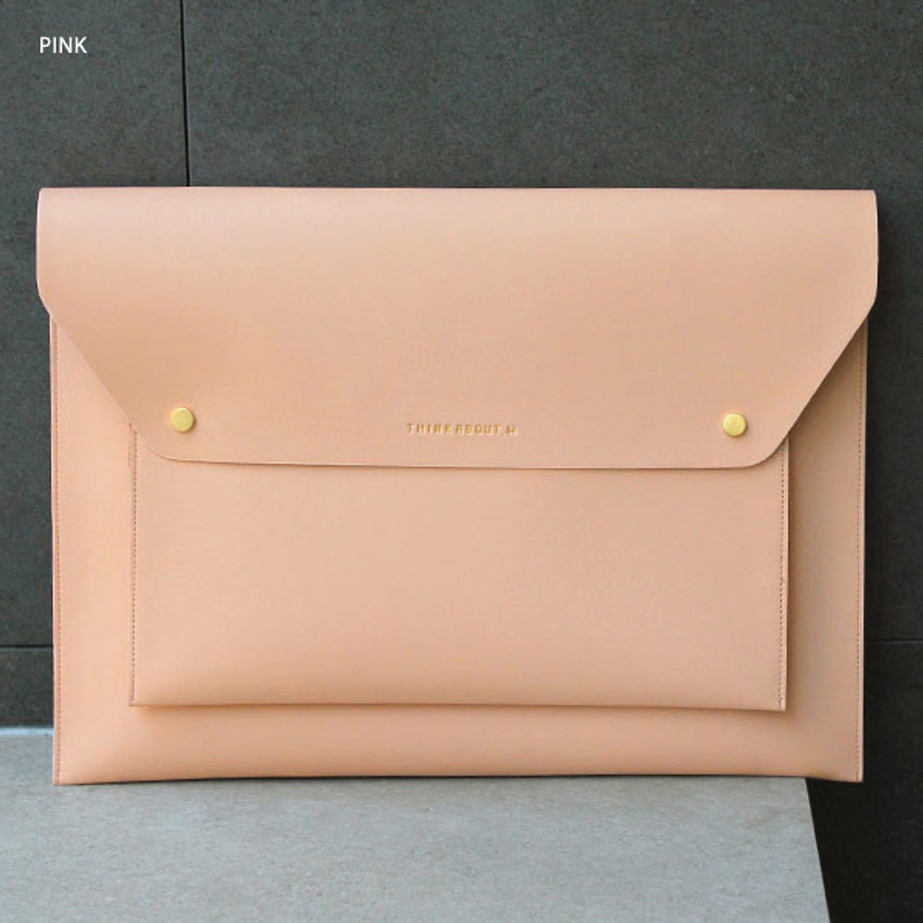 Pink - Think about W 13 inches flat laptop pouch