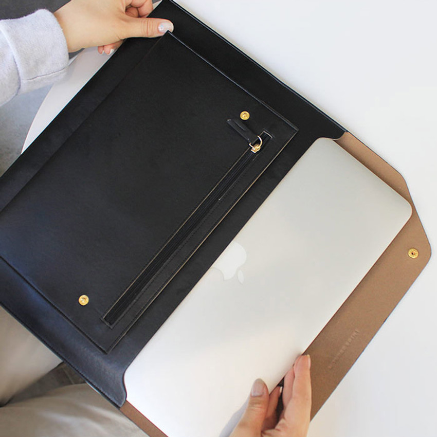 Black - Think about W 13 inches flat laptop pouch