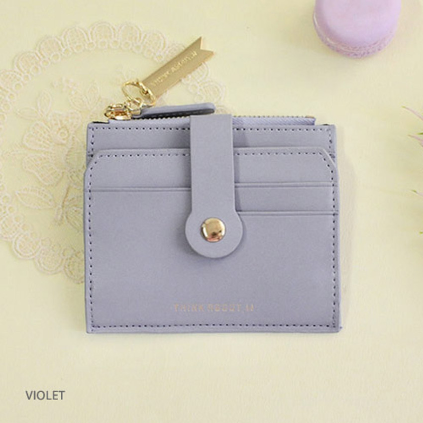 Violet - Think about W folding card case