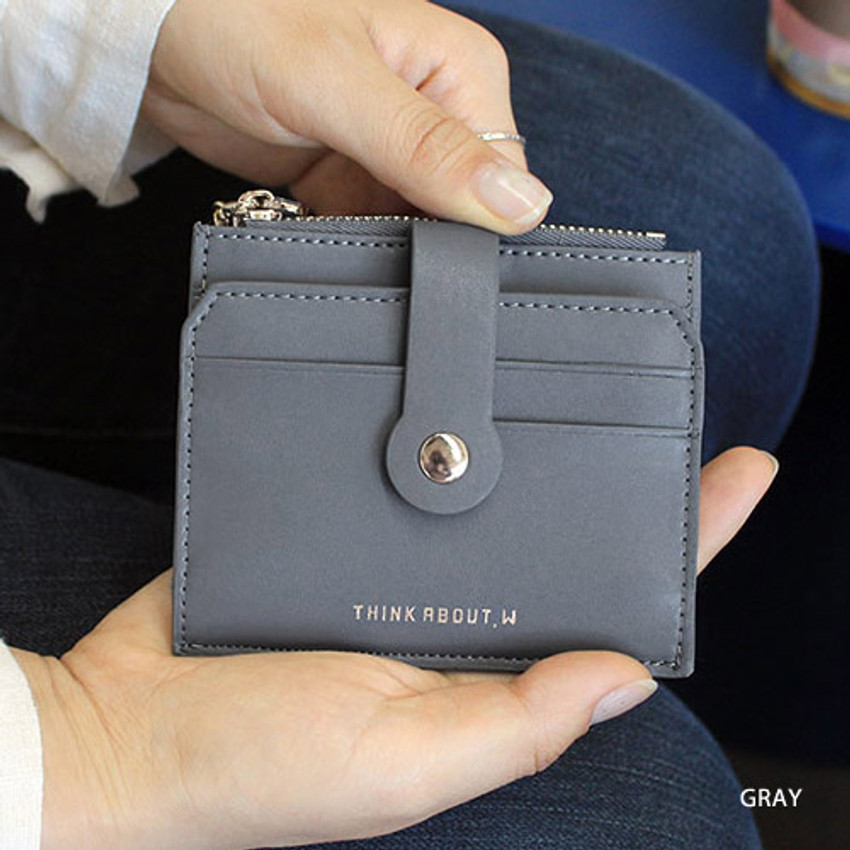 Gray - Think about W folding card case