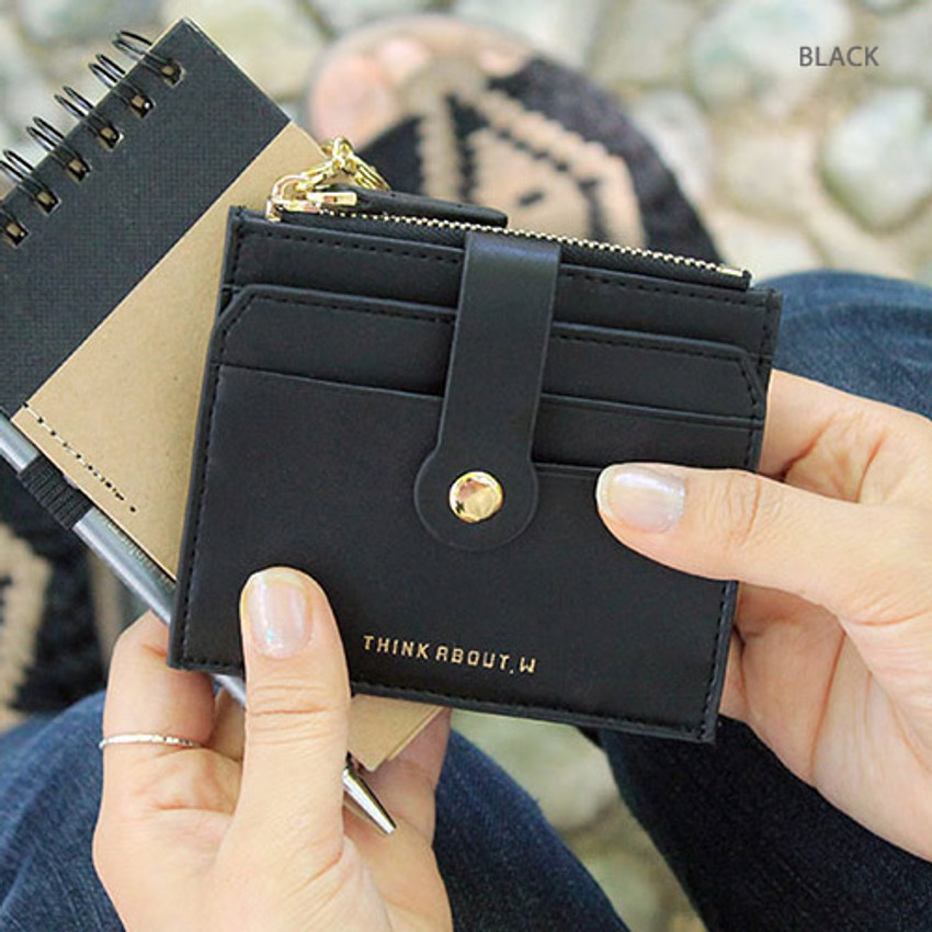 Black - Think about W folding card case