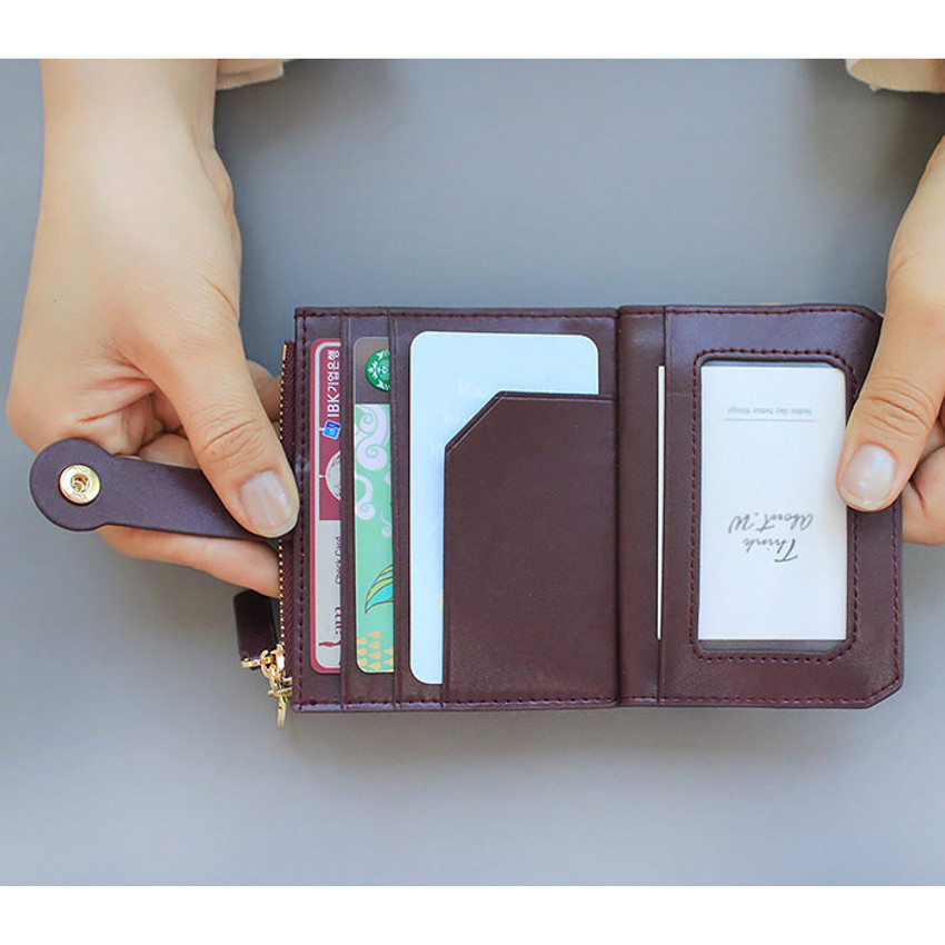Inside of Think about W folding card case