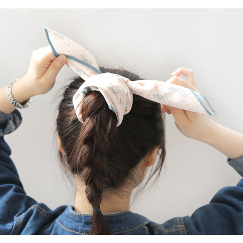 Bird - My big pattern cotton handkerchief