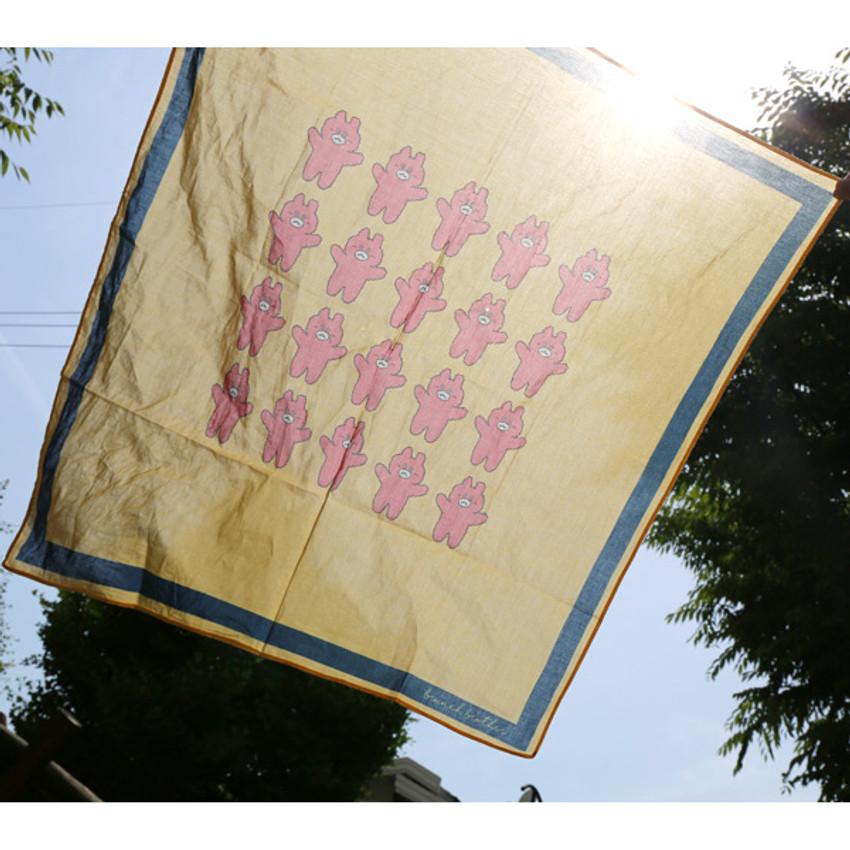 Bear - My big pattern cotton handkerchief
