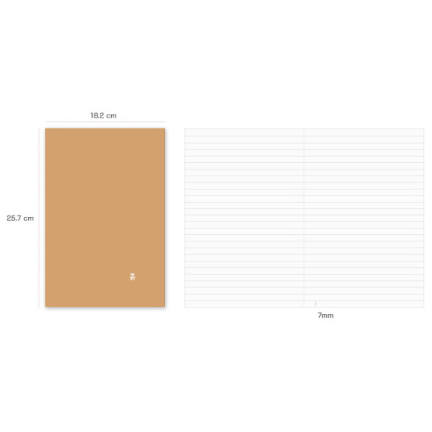 Size of Earth sewn bound B5 lined notebook