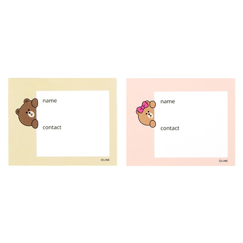 information card - Line friends travel luggage name tag set