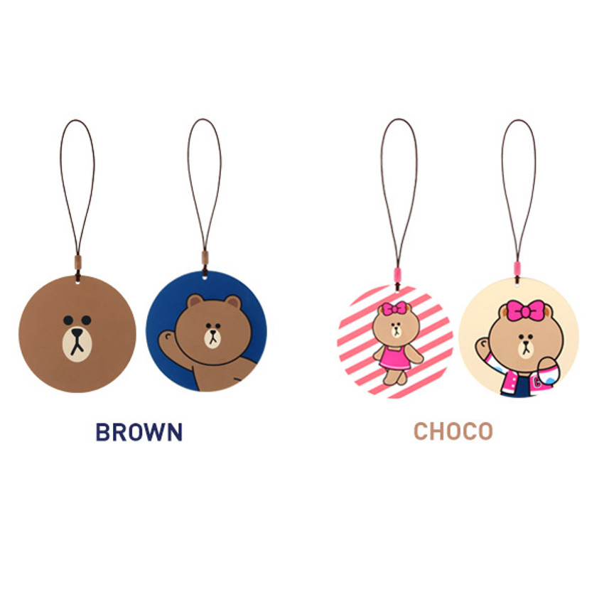 Option of Line friends travel luggage name tag set