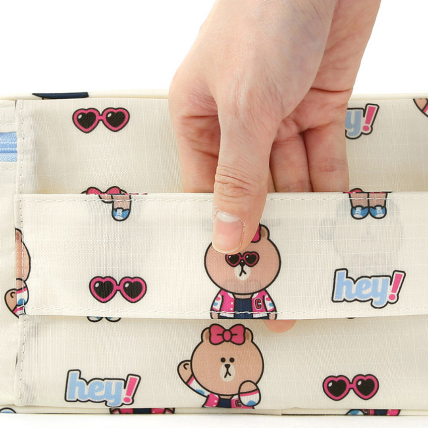 Top handle - Line friends small travel mesh bag packing organizer