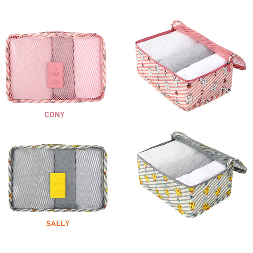 Option of Line friends small travel mesh bag packing organizer