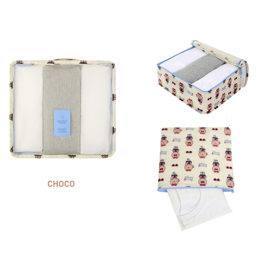 Choco - Line friends medium travel mesh bag packing organizer