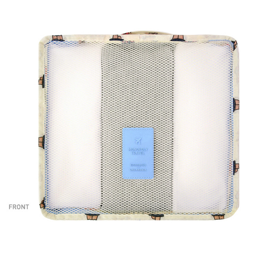 Front - Line friends medium travel mesh bag packing organizer