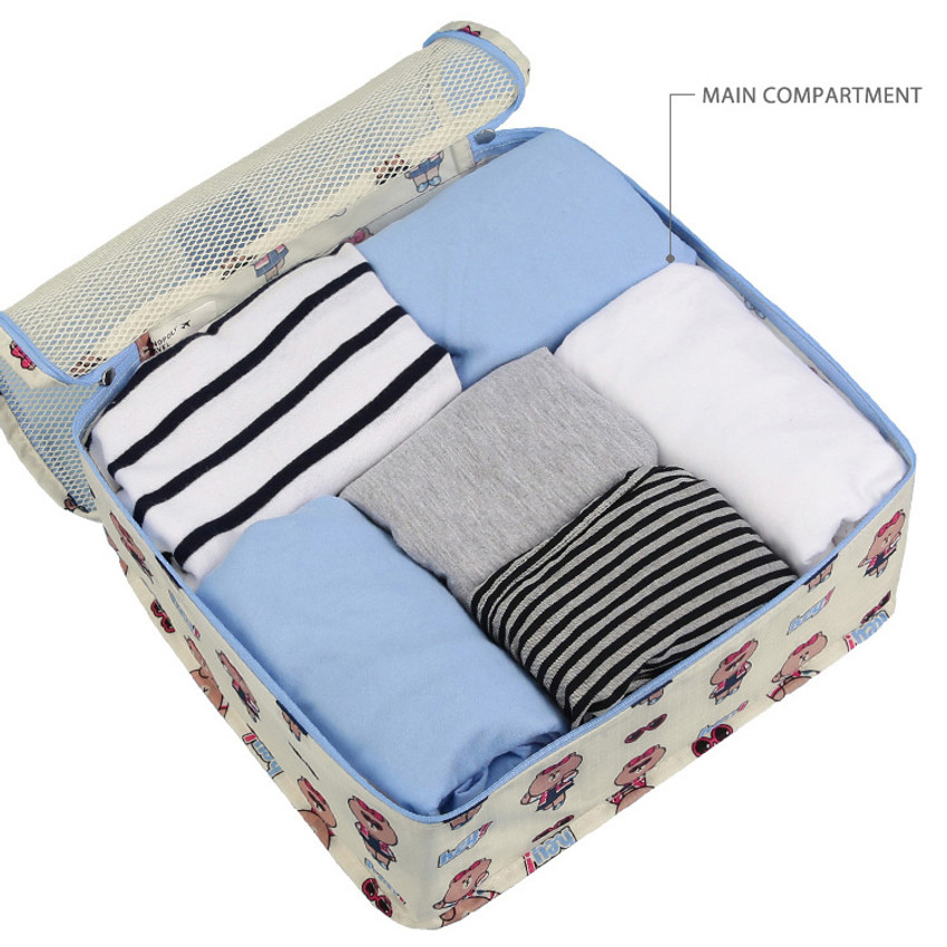 Main compartment - Line friends travel bag packing organizer
