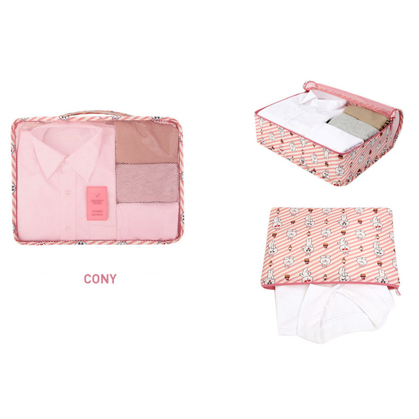 Cony - Line friends large travel mesh bag packing organizer