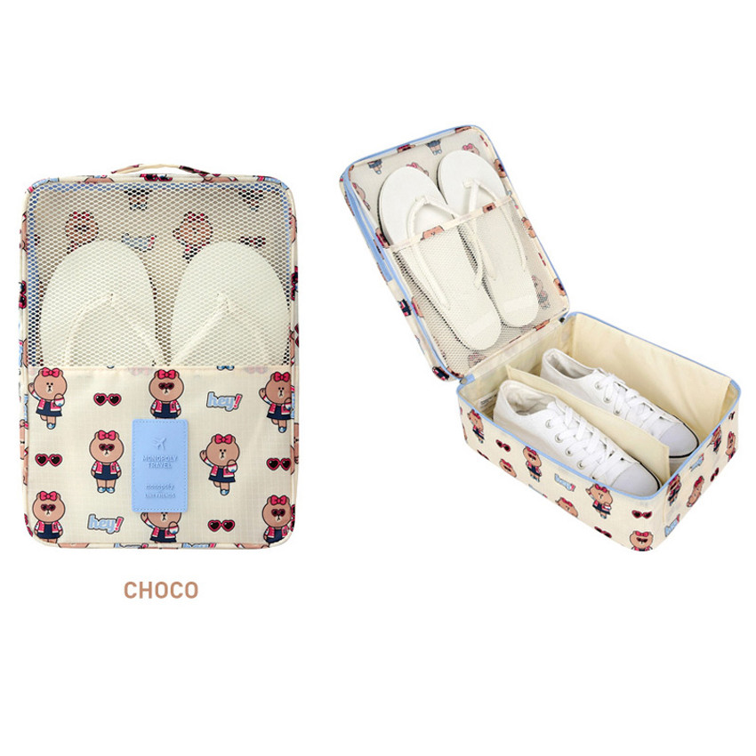 Choco - Line friends travel shoes mesh pocket pouch