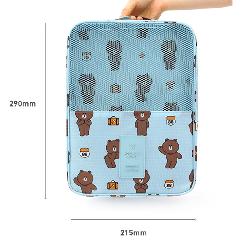 Size of Line friends travel shoes mesh pocket pouch