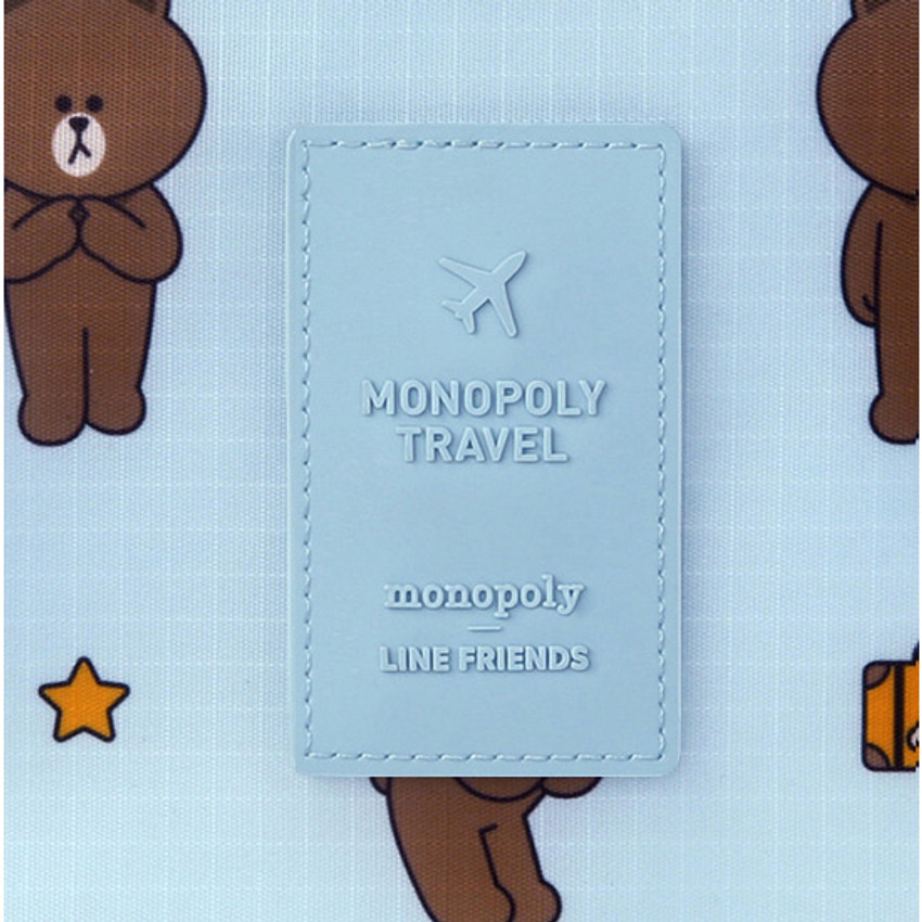 Rubber logo - Line friends travel shoes mesh pocket pouch