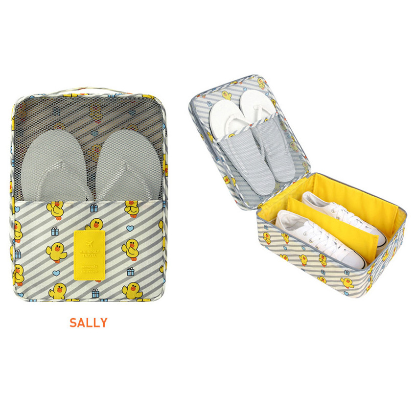 Sally - Line friends travel shoes mesh pocket pouch