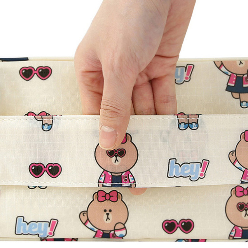 Top handle - Line friends travel zip shoes pouch bag ver.3