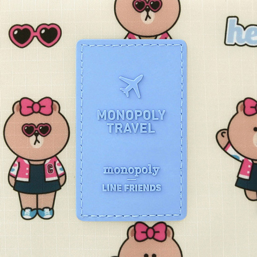 Rubber logo - Line friends travel zip shoes pouch bag ver.3