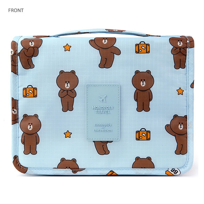 Front - Line friends travel hanging toiletry pouch bag