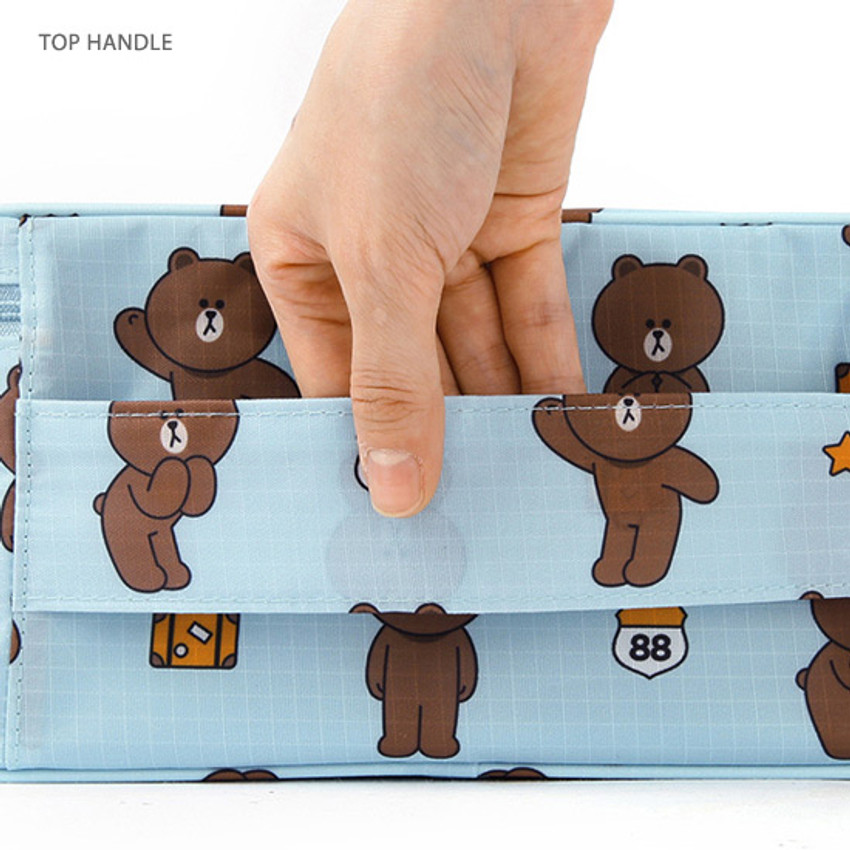 Top handle - Line friends travel hanging toiletry pouch bag
