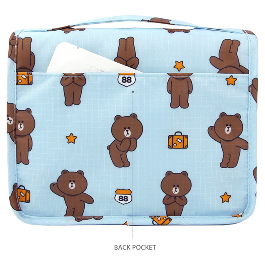 Back pocket - Line friends travel hanging toiletry pouch bag