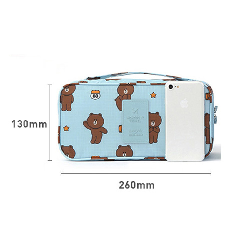 Size of Line friends travel pouch bag for underwear and bra