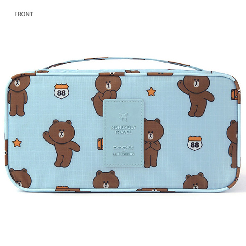 Front - Line friends travel pouch bag for underwear and bra