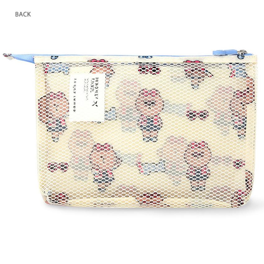 Back - Line friends travel mesh large zipper pouch