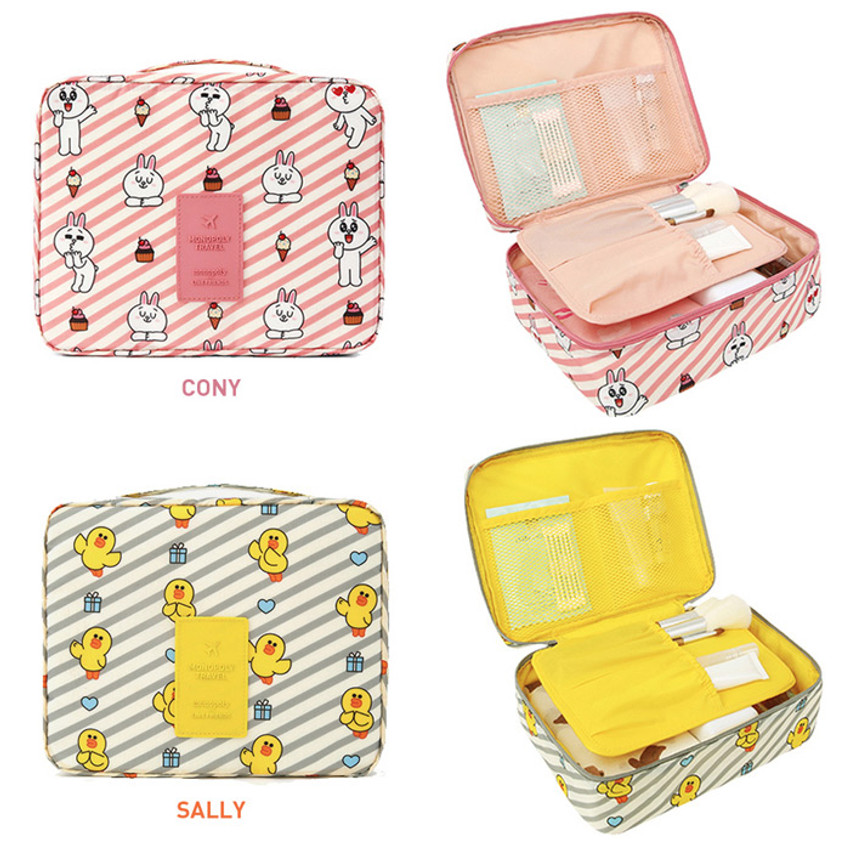 Option of travel mesh multi pouch bag packing organizer