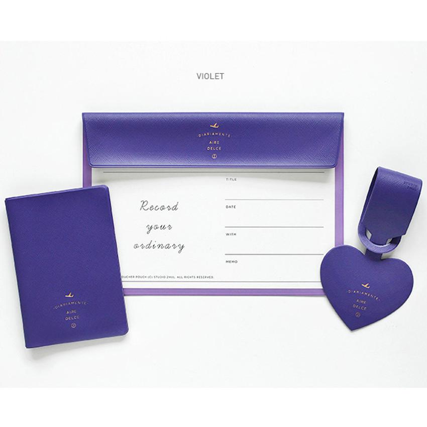 Violet - Aire delce travel essentials set