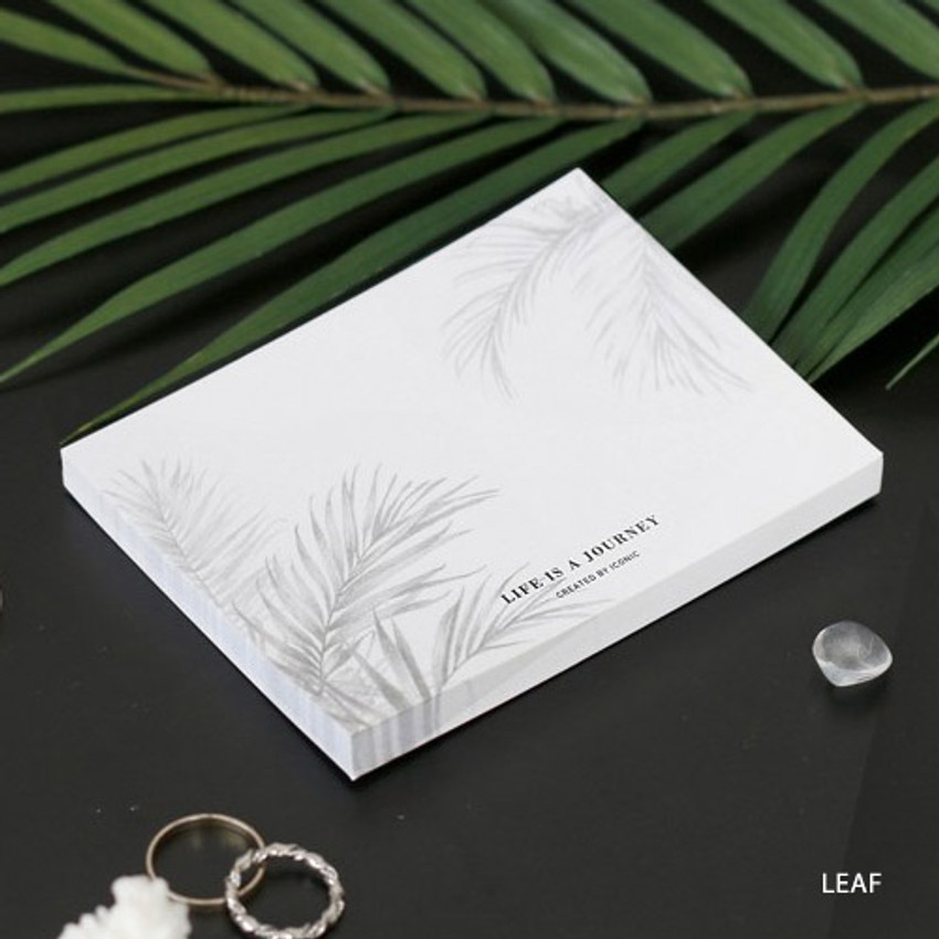 Leaf - Life is a journey becoming memo pad