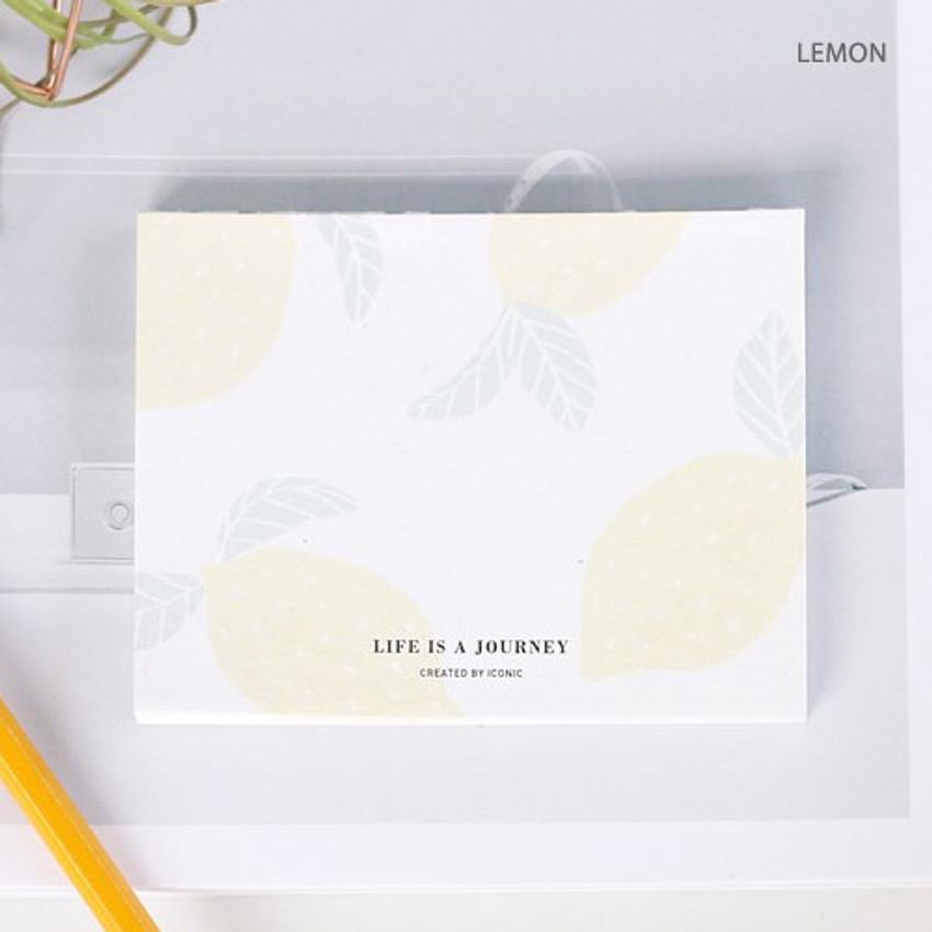 Lemon - Life is a journey becoming memo pad