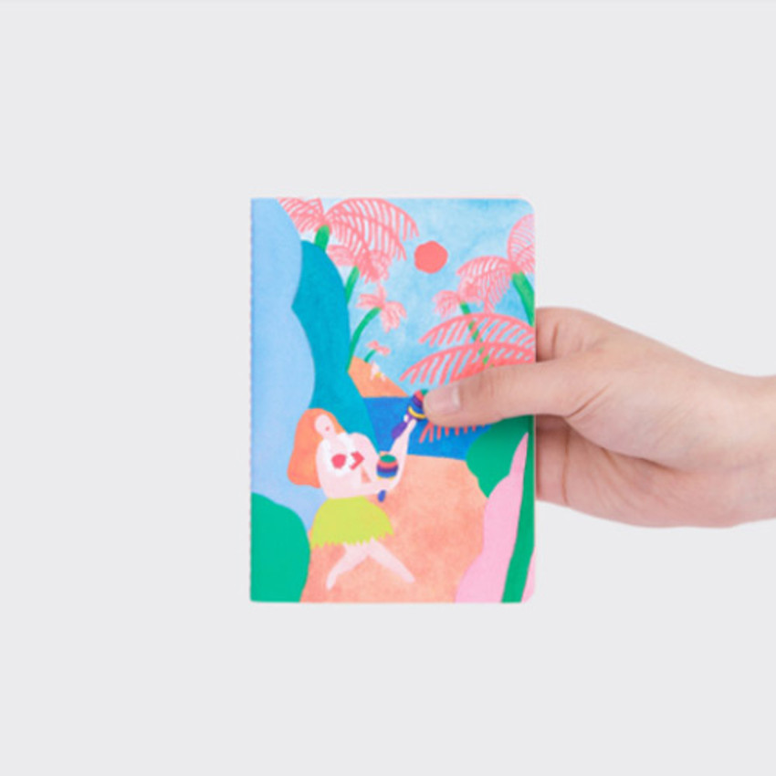 LOLO sewn bound small grid notebook