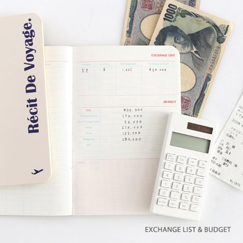 foto de Romane Recit de voyage travel planner notebook - Fallindesign