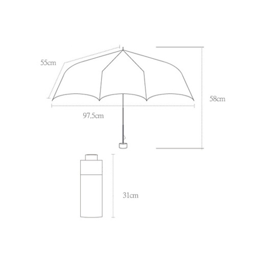 Size of Life studio automatic foldable pattern umbrella